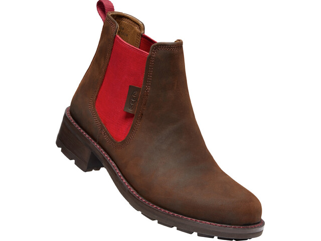 Keen Oregon City Chelsea Boots Dames, snuff/tibetan red